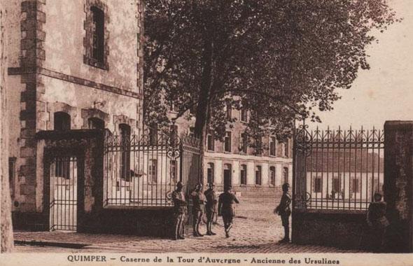 Entrée de la caserne de la Tour d'Auvergne à Quimper