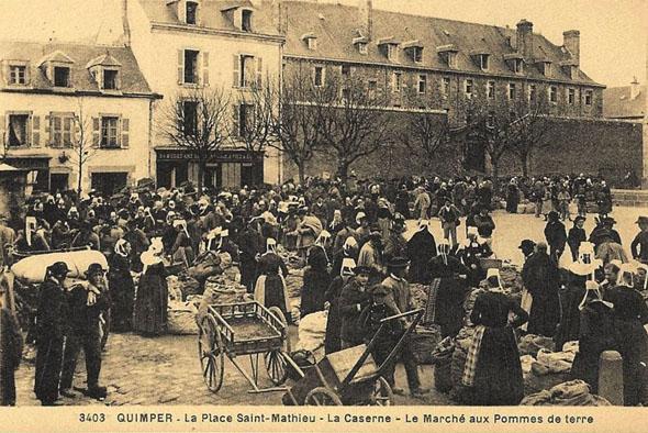 Marché Place Saint-Mathieu Quimper