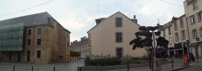 Quartier des Arts et du Châpeau Rouge Quimper, rue saint-Marc, Médiathèque